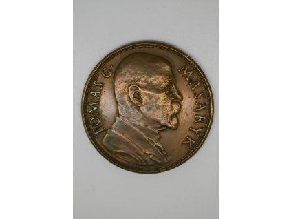 Na paměť 85. narozenin T. G. Masaryka 1935, 50 mm, Španiel