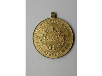 Čestná medaile za 25letou záslužnou činnost na poli hasičském a záchranářském