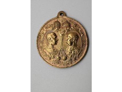 Medaile k výročí 60. let vlády Františka Josefa I. 1908