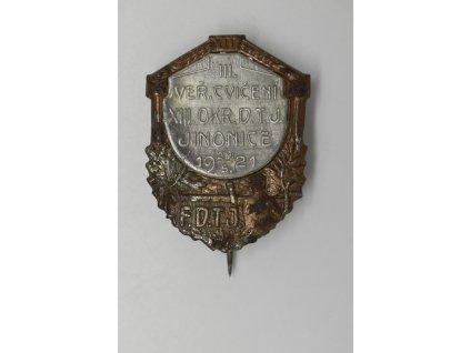III. Veřejné cvičení XIII. okresu DTJ Jinonice 1921