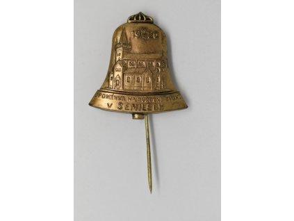 Upomínka na svěcení zvonů v Semilech 1926