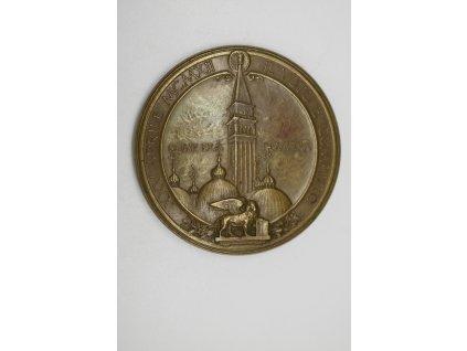 Medaile k dokončení přestavby zvonice svatého Marka, Benátky 1912, Moretti