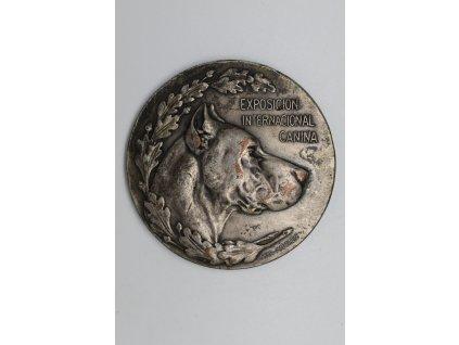 Cena za zásluhy Královské psí společnosti ve Španělsku při mezinárodní výstavě psů 1912