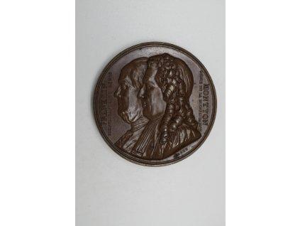 Medaile za zásluhy Společnosti pro odhalování portrétů a vzpomínek dobrých lidí 1833, Barre
