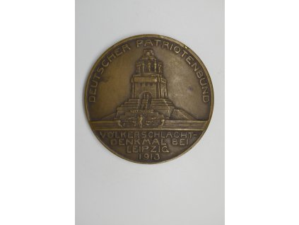 Medaile k odhalení památníku Bitvy národů u Lipska 1913