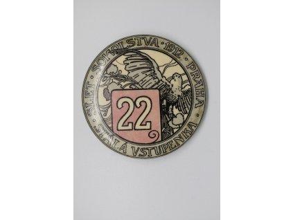Stálá vstupenka č. 22 - Slet sokolstva Praha 1912
