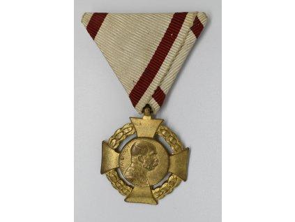 Vojenský jubilejní kříž na vojenské stuze 1908