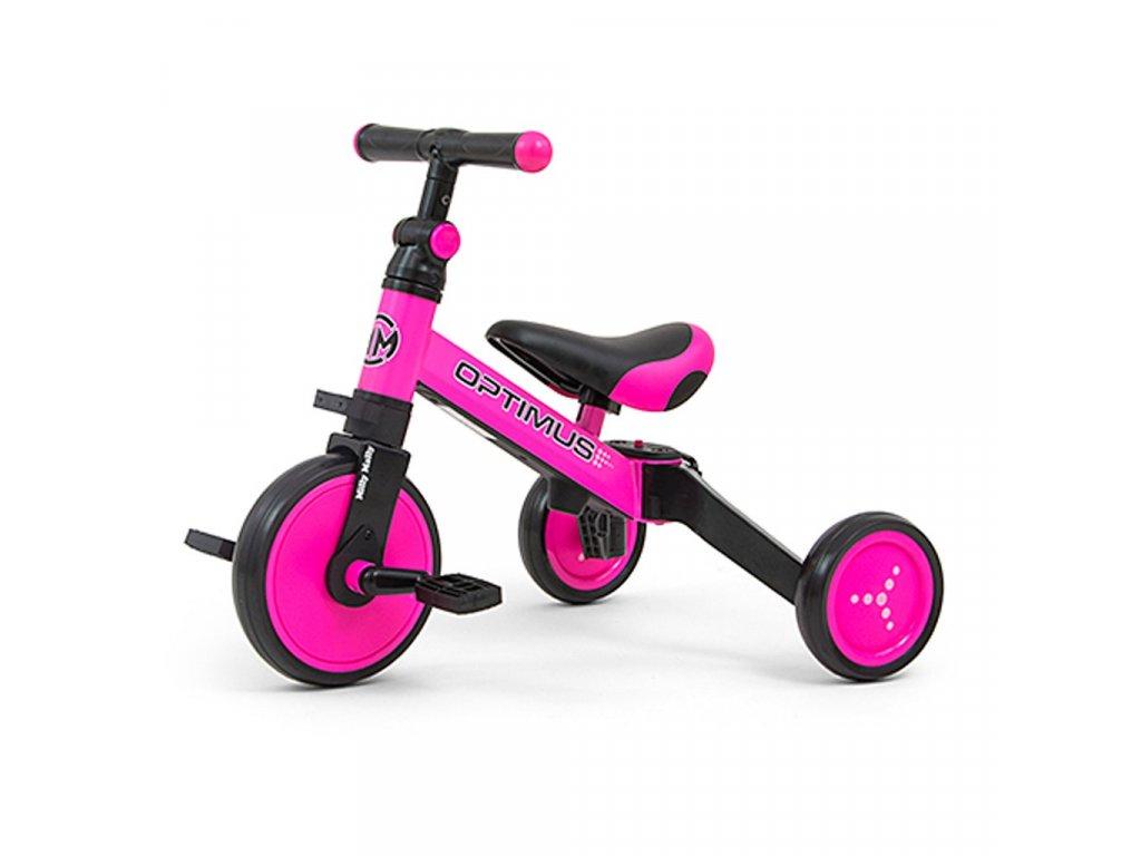 30305 detska trikolka 3v1 milly mally optimus pink