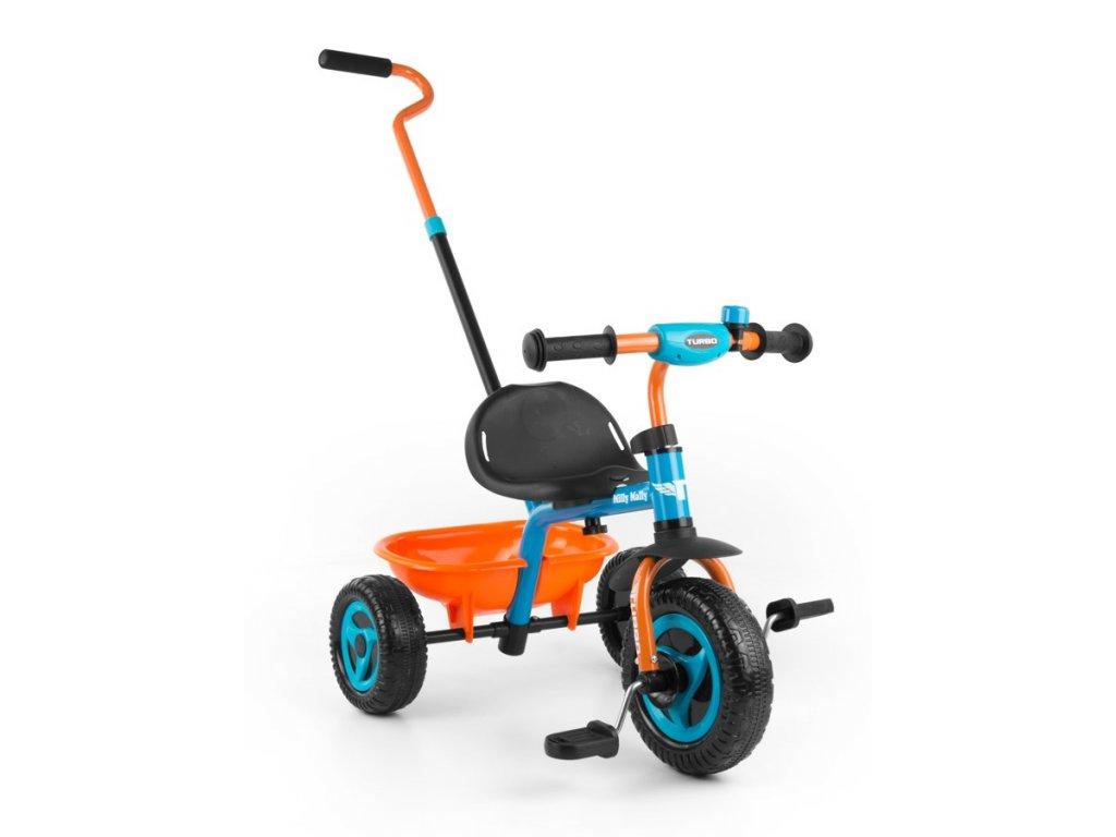 4523 detska trikolka milly mally boby turbo orange