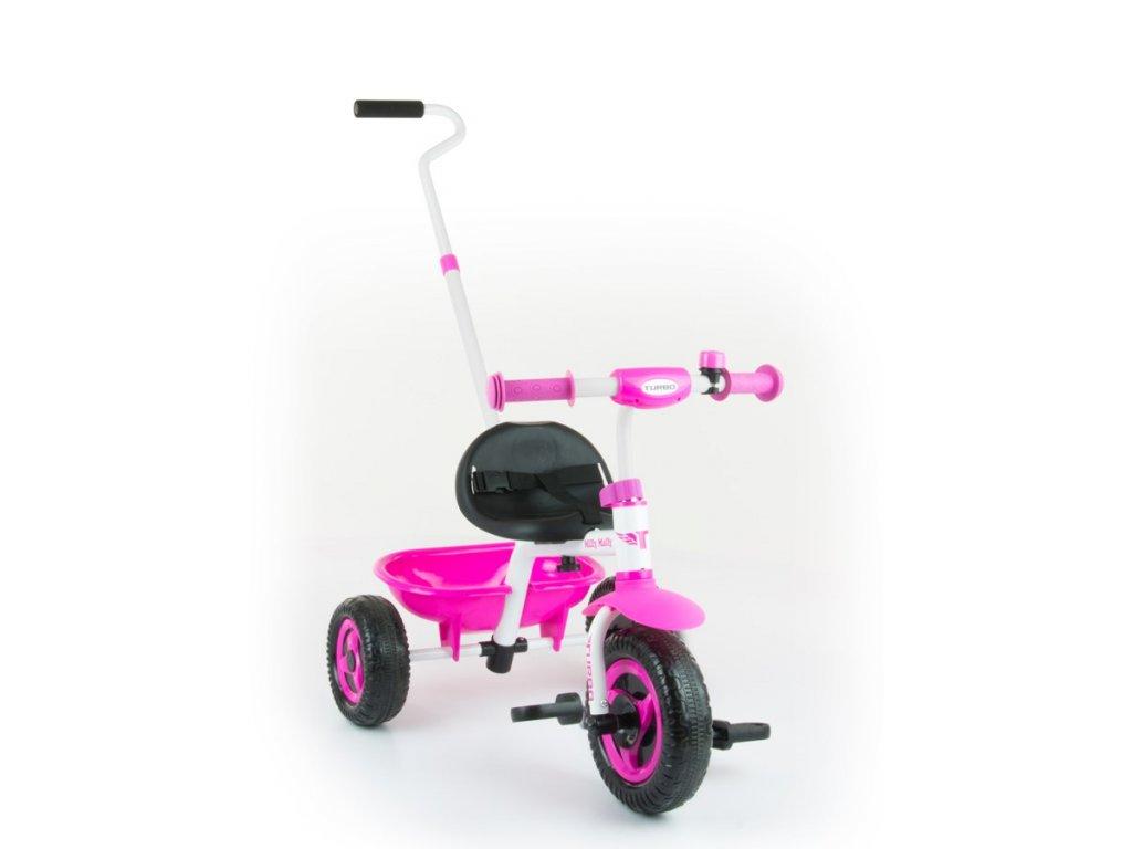 4514 detska trikolka milly mally boby turbo pink