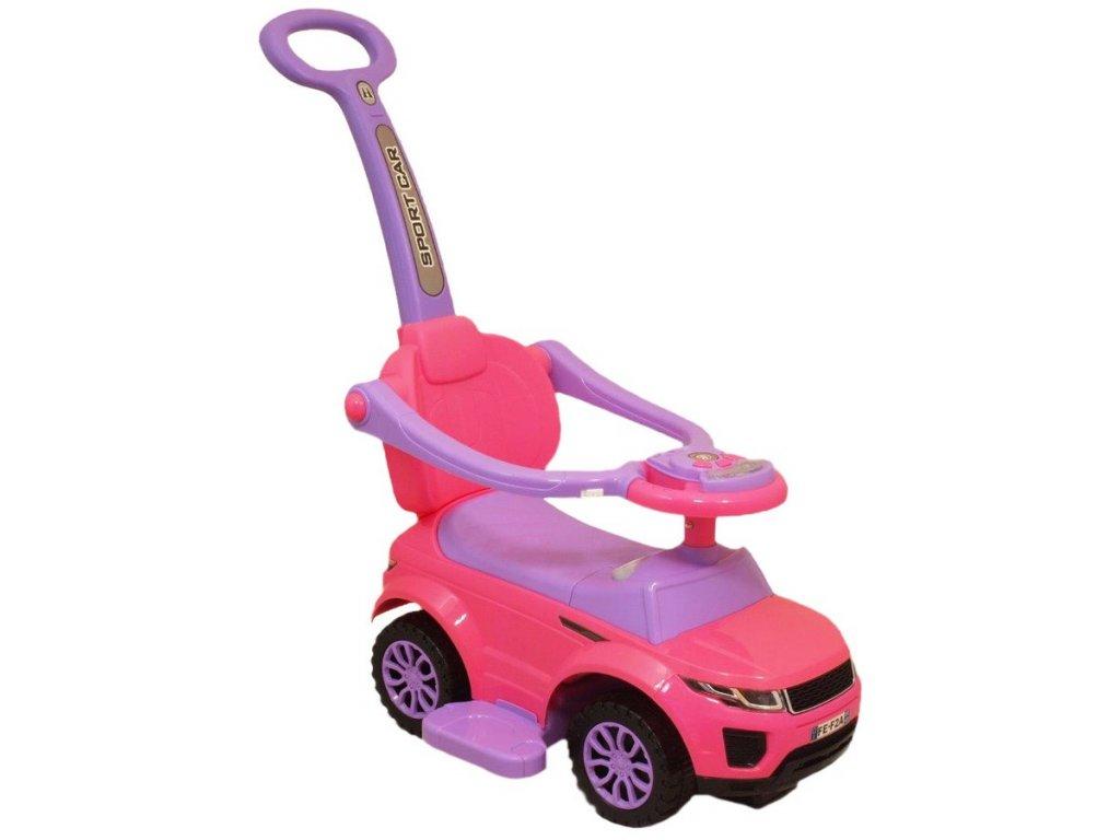 9242 detske hrajici jezditko 3v1 baby mix ruzove