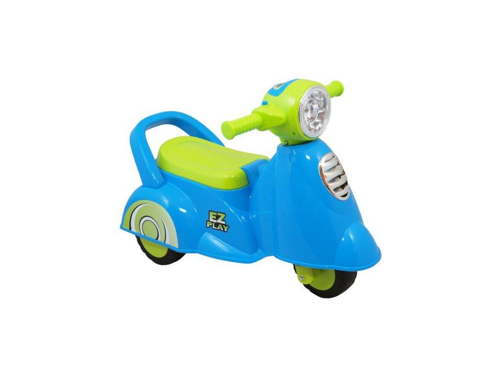 3974 detske jezditko se zvukem baby mix scooter blue