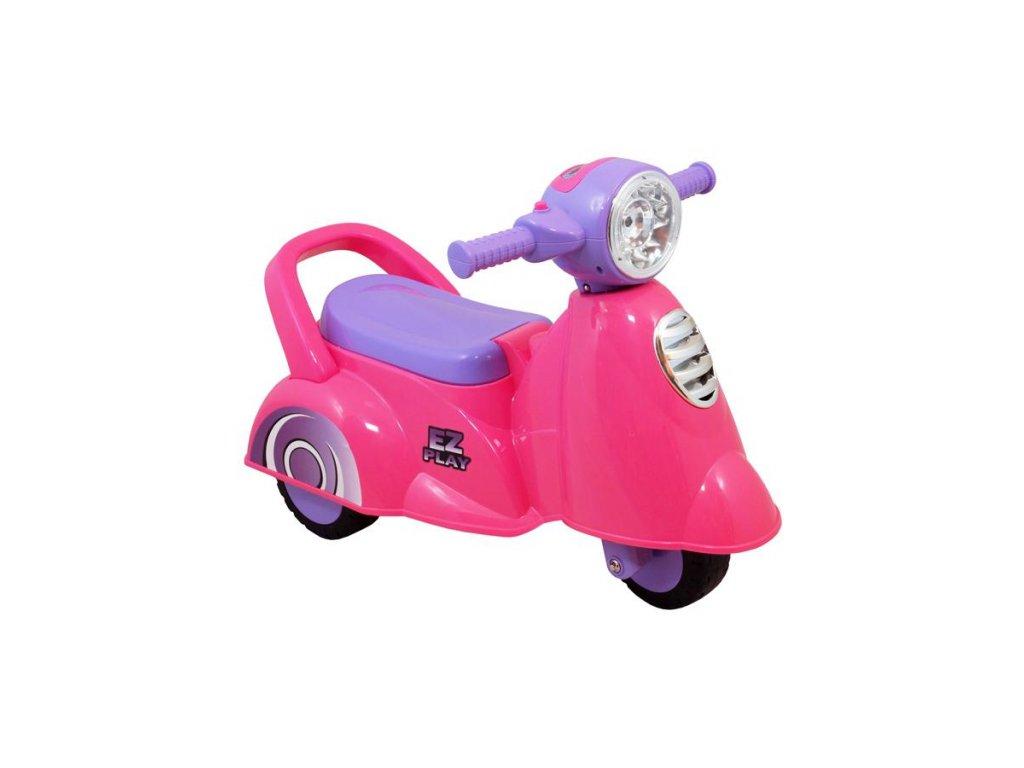 3977 detske jezditko se zvukem baby mix scooter pink