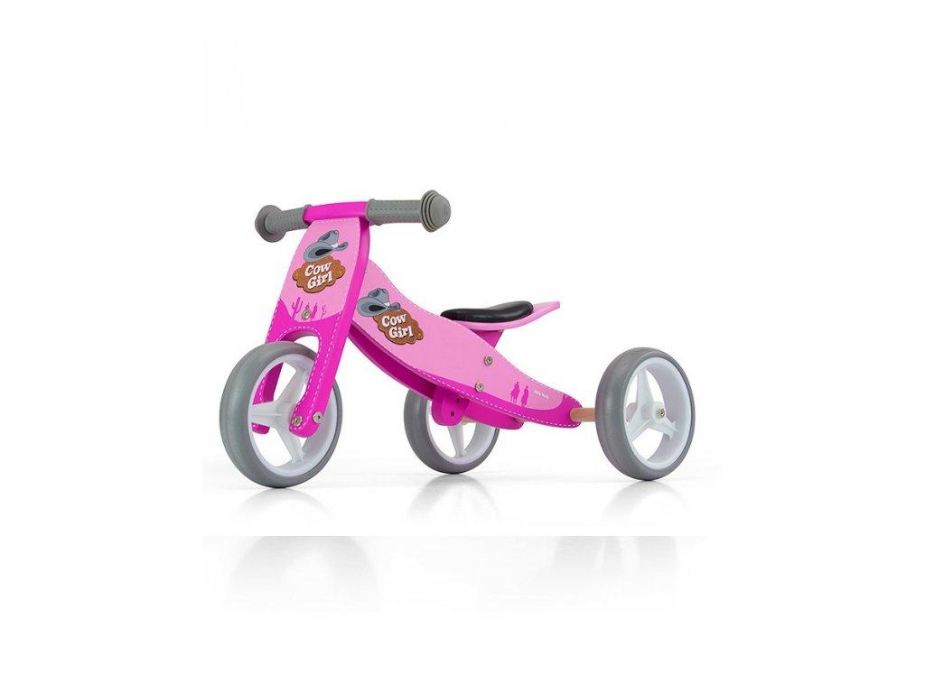 11969 detske multifunkcni odrazedlo kolo milly mally jake pink cowgirl