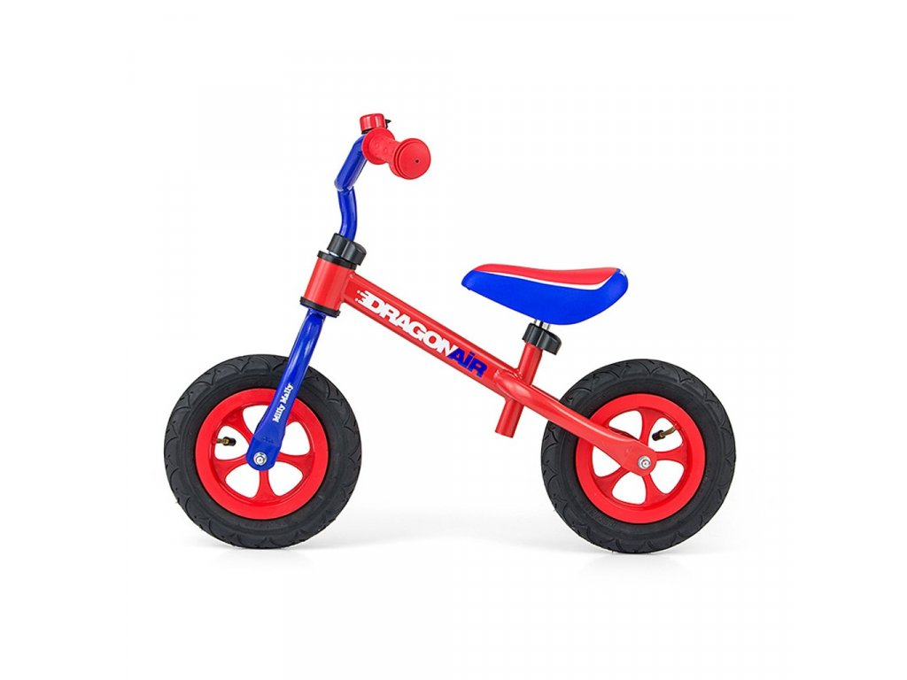 19904 detske odrazedlo kolo milly mally dragon air red blue