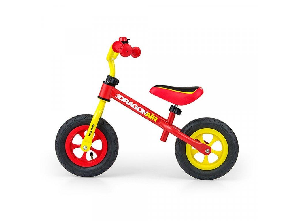 19907 detske odrazedlo kolo milly mally dragon air yellow red