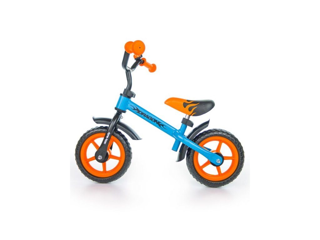 4589 detske odrazedlo kolo milly mally dragon orange blue