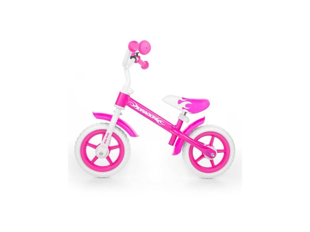 4586 detske odrazedlo kolo milly mally dragon pink