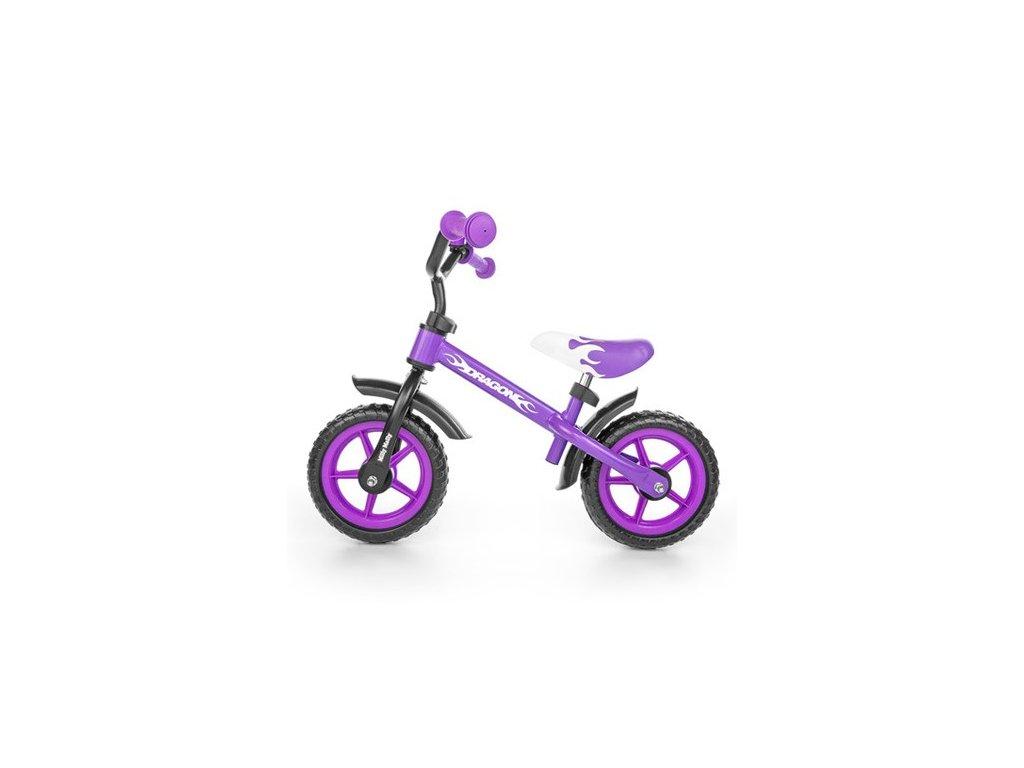 32456 detske odrazedlo kolo milly mally dragon s brzdou purple