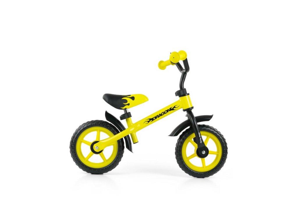4580 detske odrazedlo kolo milly mally dragon yellow