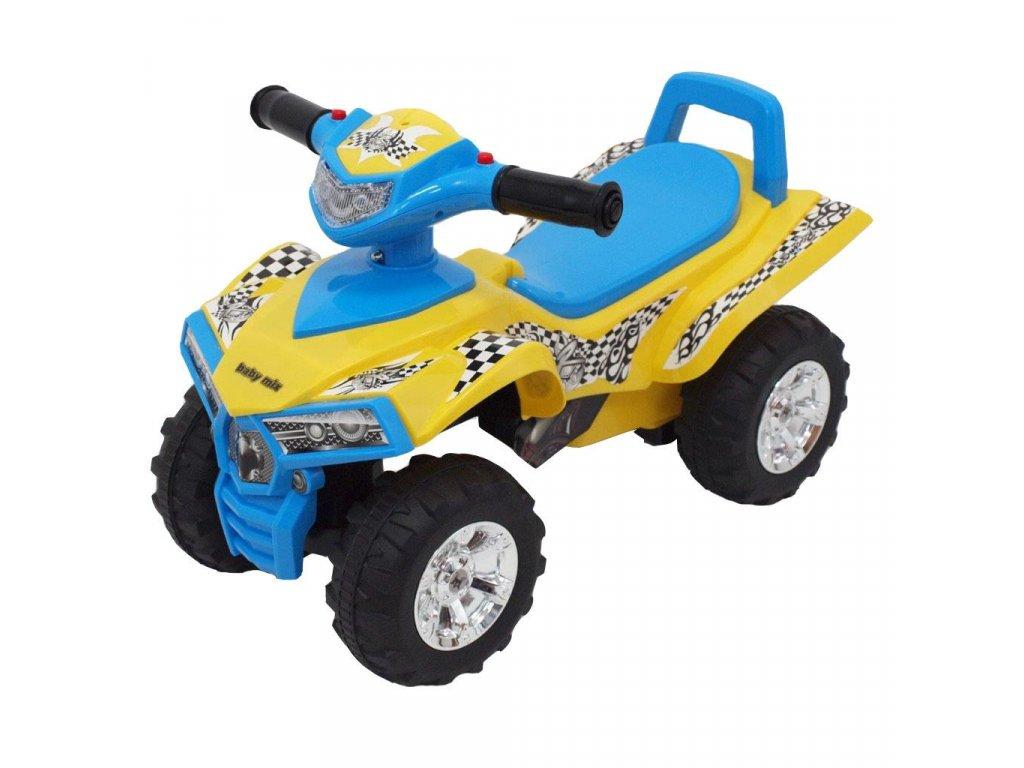 24404 detske odrazedlo se zvukem ctyrkolka baby mix yellow blue