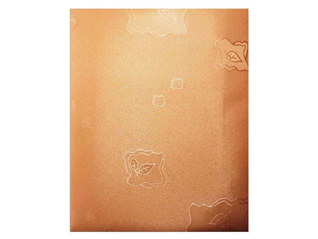 EmaHome - Ubrus s ochranou proti skvrnám 130x160 cm / broskvová se vzorem