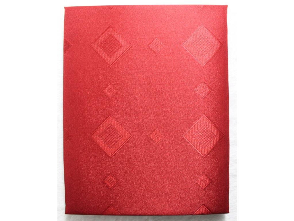 EmaHome - Ubrus s ochranou proti skvrnám 130x160 cm / tmavě červená se vzorem