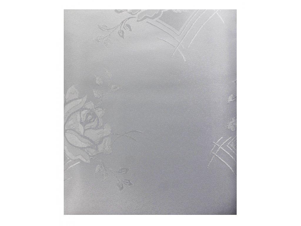EmaHome - Ubrus s ochranou proti skvrnám 140x220 cm / bílá se vzorem