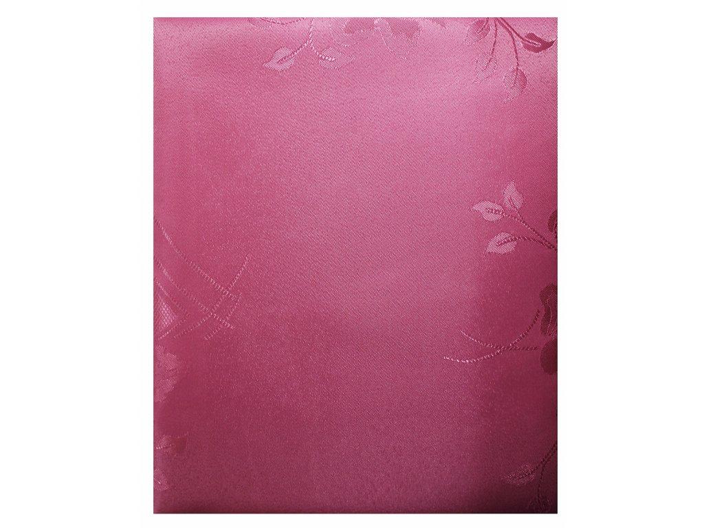 EmaHome - Ubrus s ochranou proti skvrnám 140x220 cm / růžový se vzorem