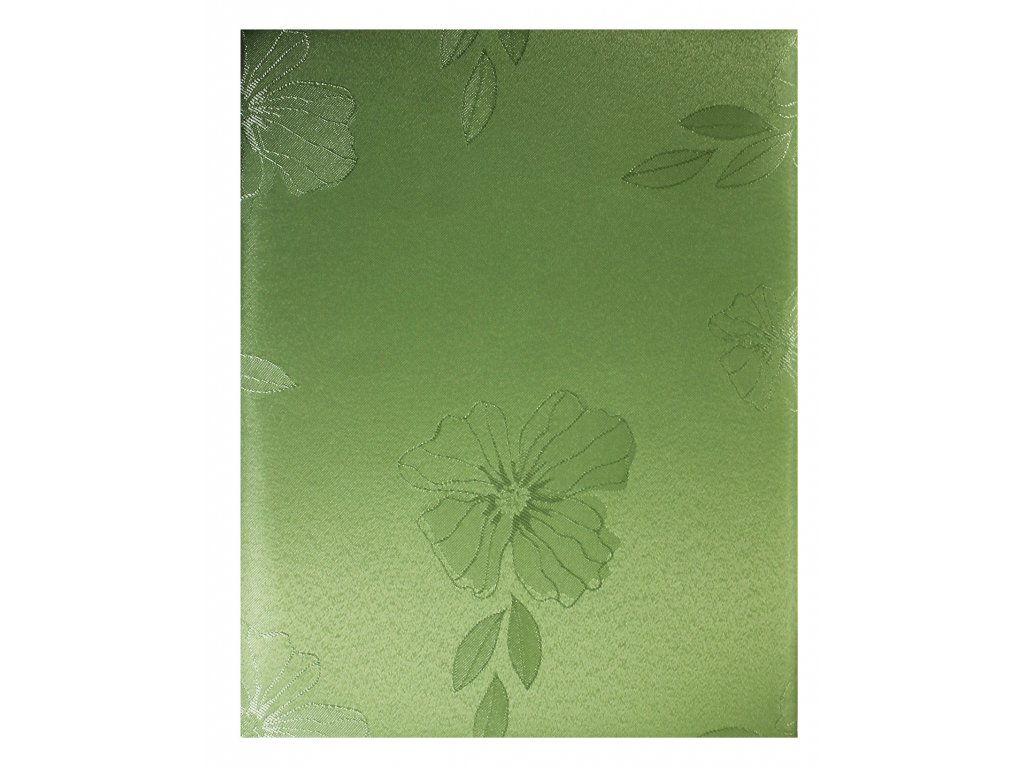 EmaHome - Ubrus s ochranou proti skvrnám 140x220 cm / zelená se vzorem