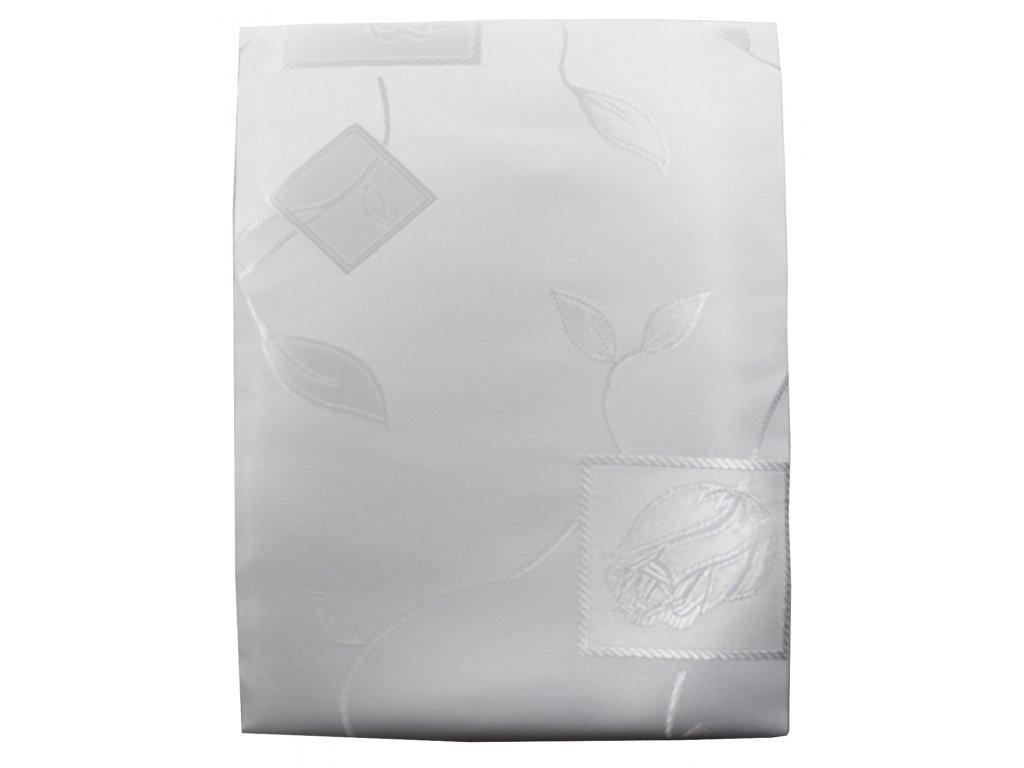 EmaHome - Ubrus s ochranou proti skvrnám 80x80 cm / bílý se vzorem