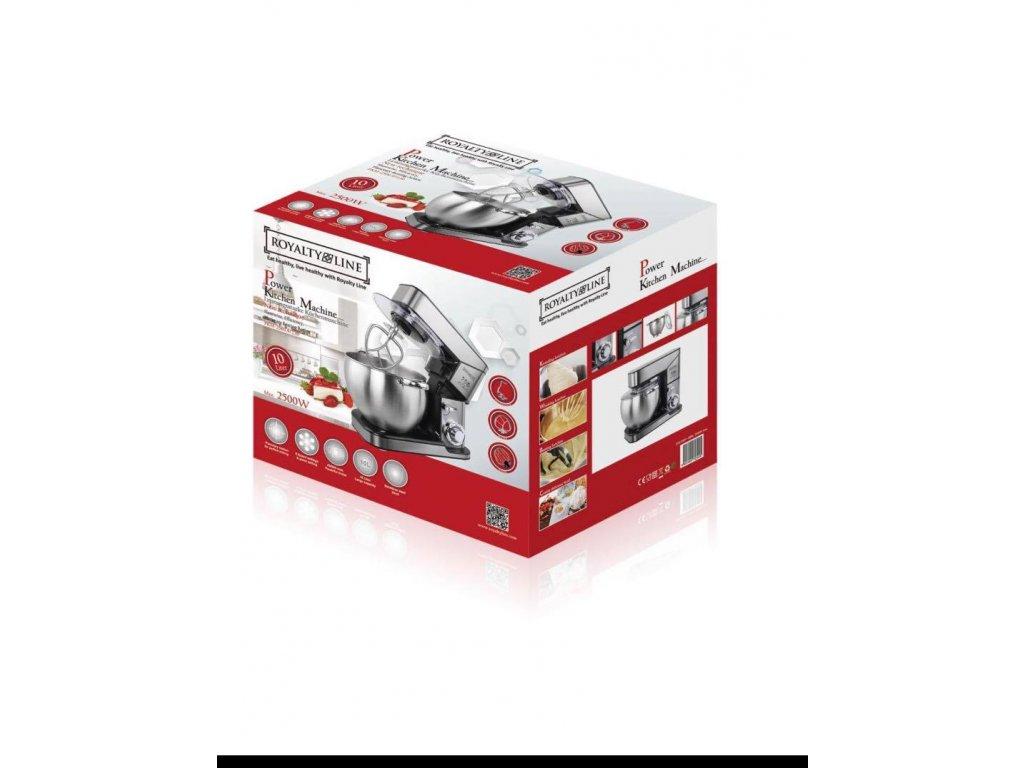 Kuchyňský robot Royalty Line RL-PKM2500 / 10 l / 2500 W / stříbrný / CELOKOVOVÝ