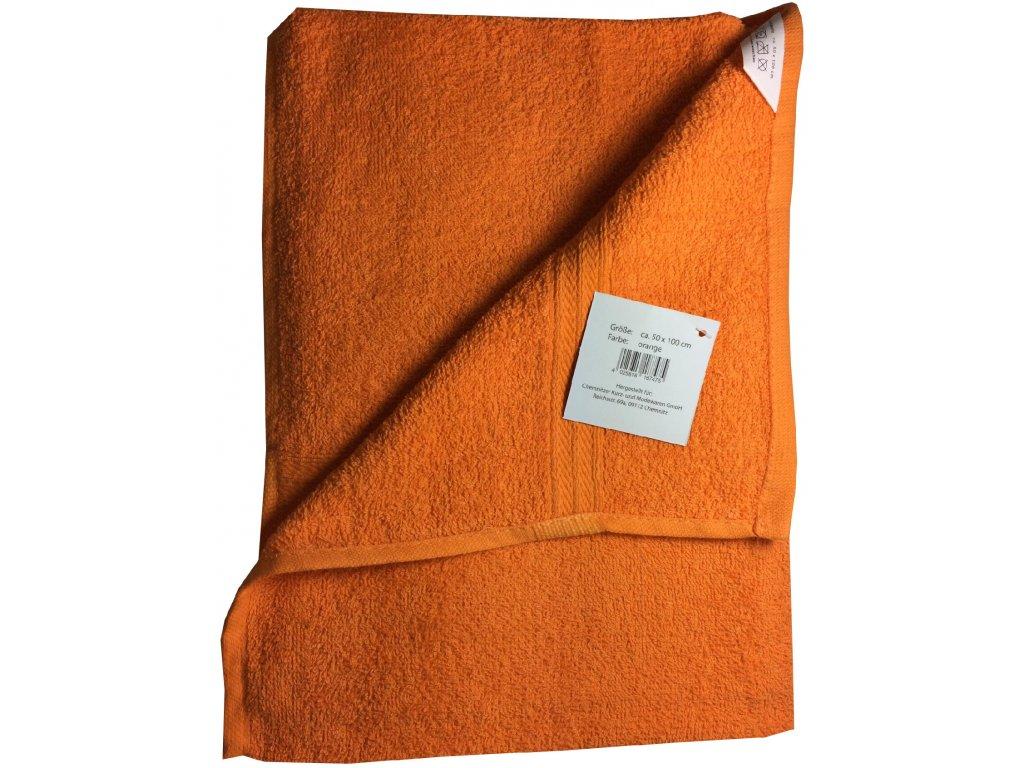 EmaHome - Ručník 50x100 cm bavlna / oranžový
