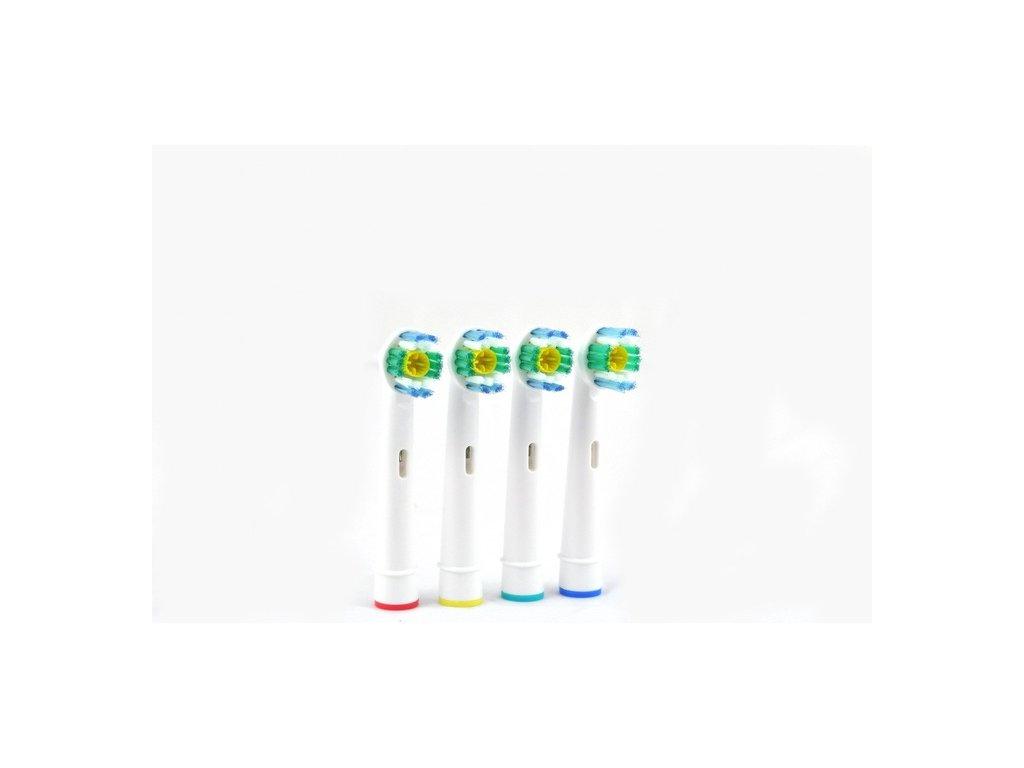 EmaHome - Kartáčkové hlavy pro elektrický zubní kartáček 4ks 3D Precision Clean