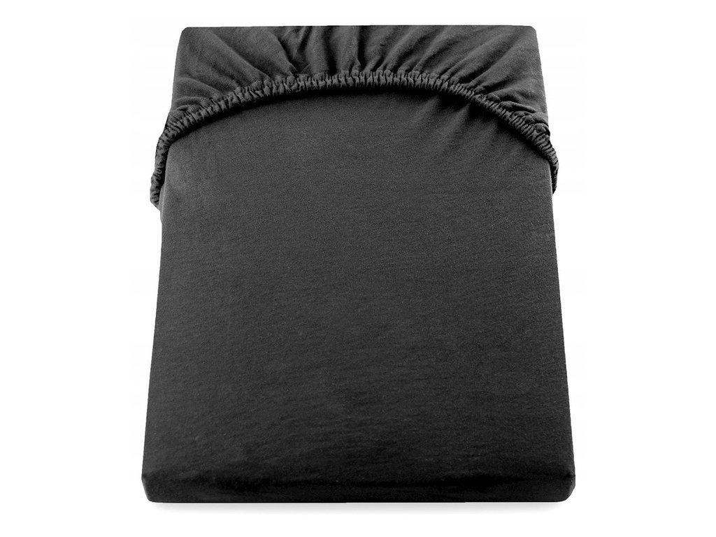 EmaHome - Jersey prostěradlo 120x200 cm černá 304