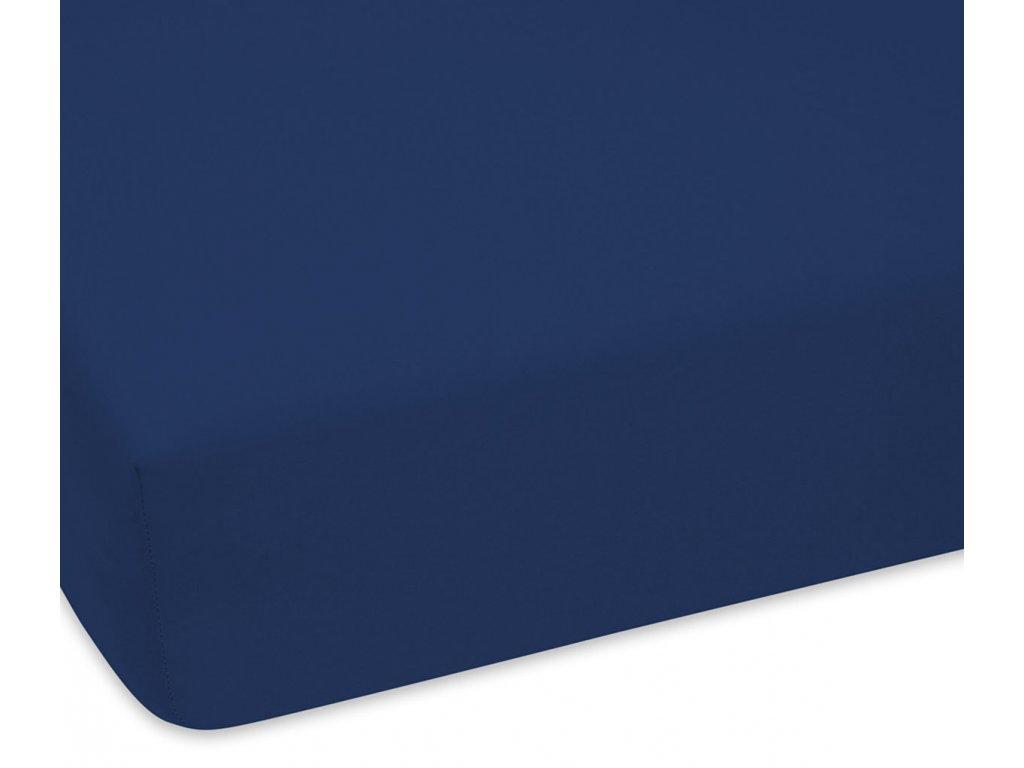 EmaHome - Jersey prostěradlo 120x200 cm námořnická modrá 312