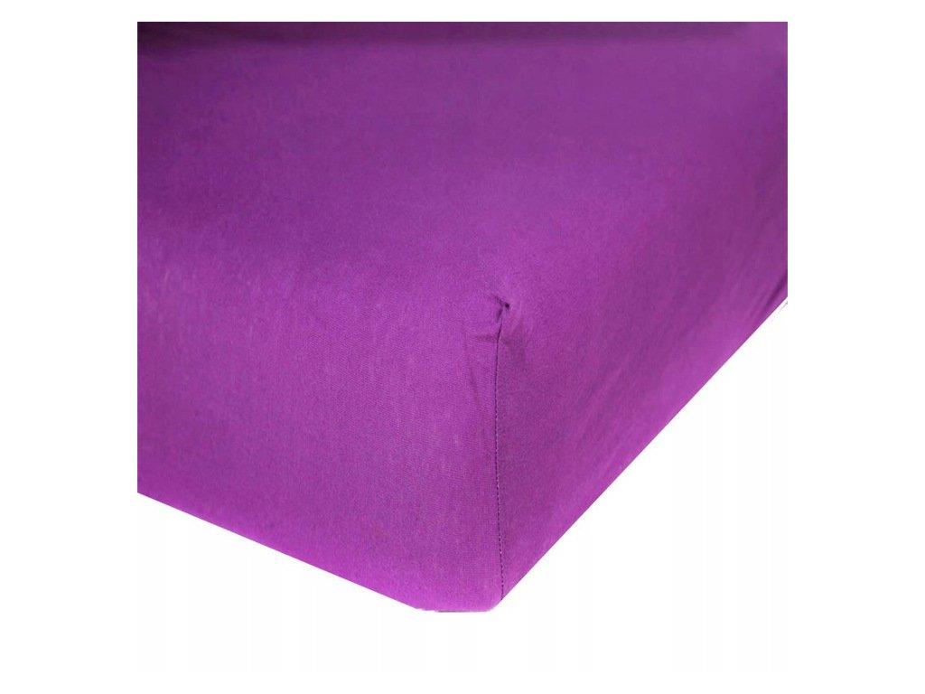 EmaHome - Jersey prostěradlo 160x200 cm fialová 316