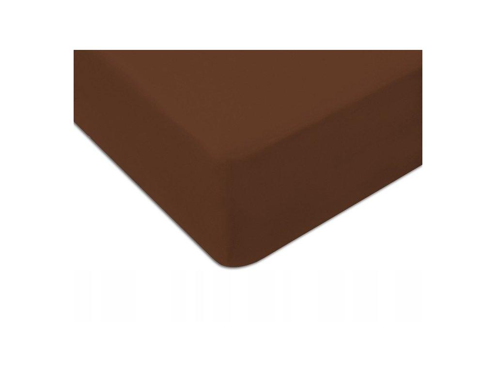 EmaHome - Jersey prostěradlo 160x200 cm hnědá 308