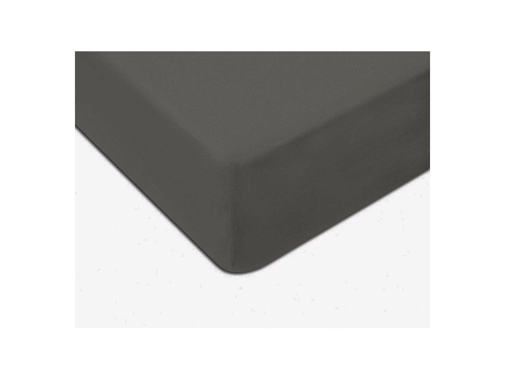 EmaHome - Jersey prostěradlo 160x200 cm tmavě šedá 301