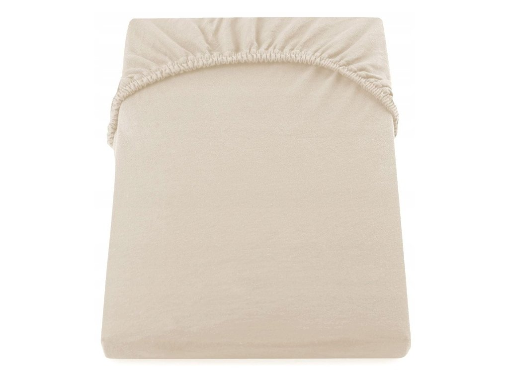 EmaHome - Jersey prostěradlo 180x200 cm béžové 130