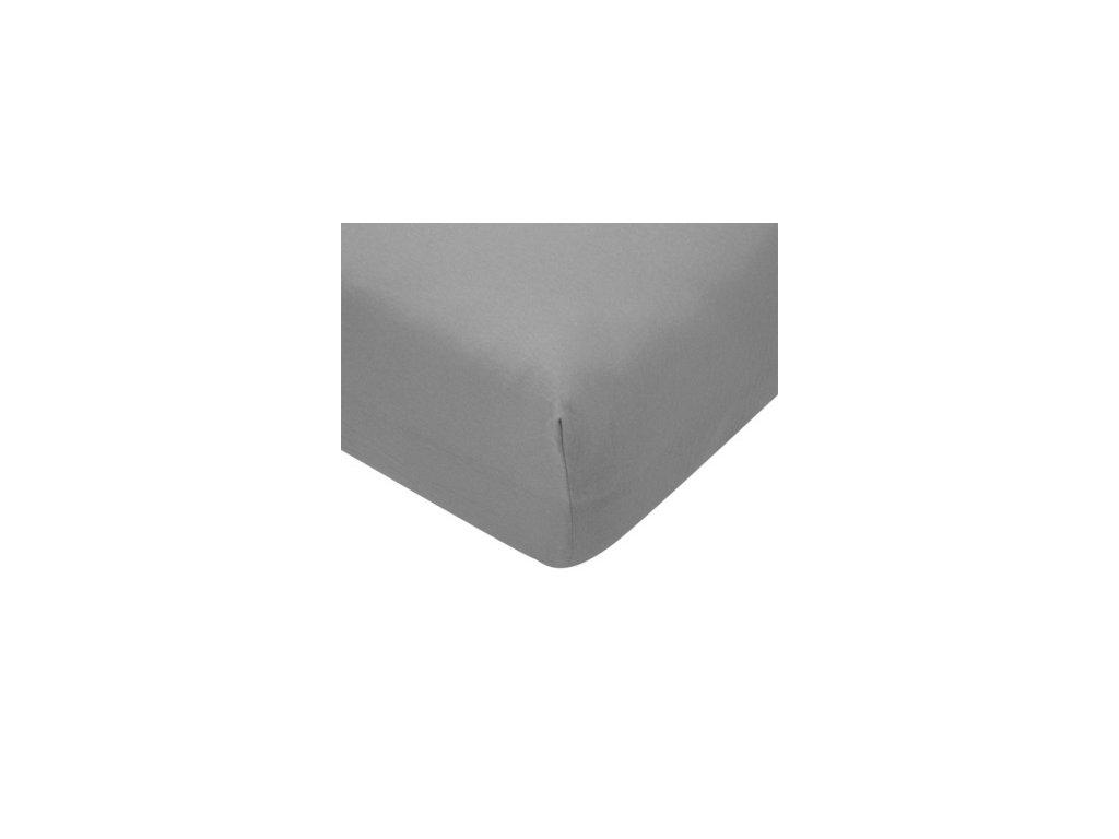 EmaHome - Jersey prostěradlo 180x200 cm šedá 119