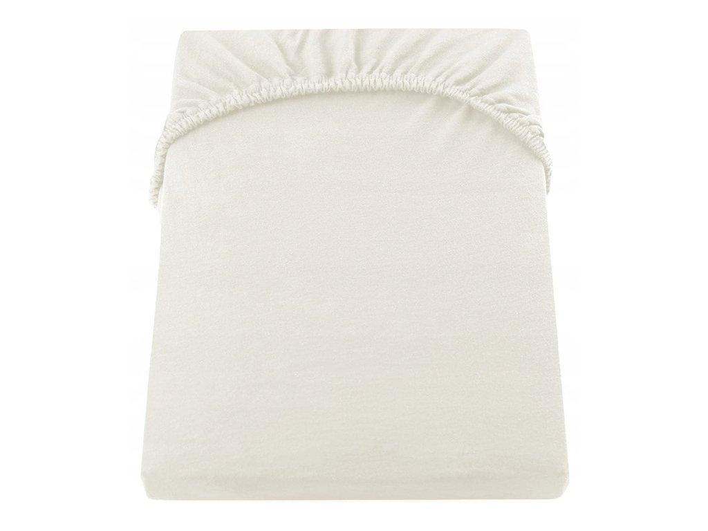 EmaHome - Jersey prostěradlo 200x220 cm krémová 104