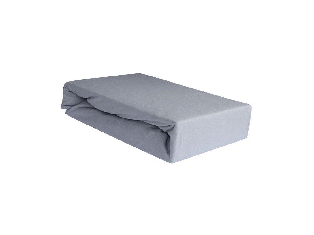 EmaHome - Jersey prostěradlo 200x220 cm šedá 119