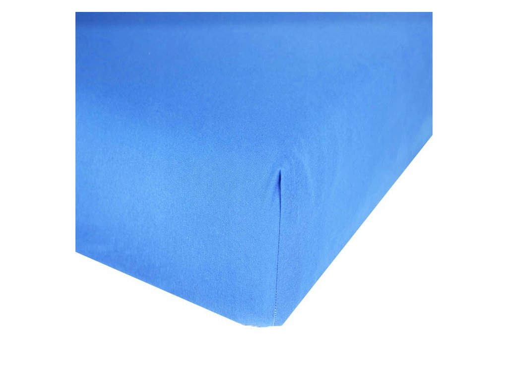 EmaHome - Jersey prostěradlo 90x200 cm modrá 309
