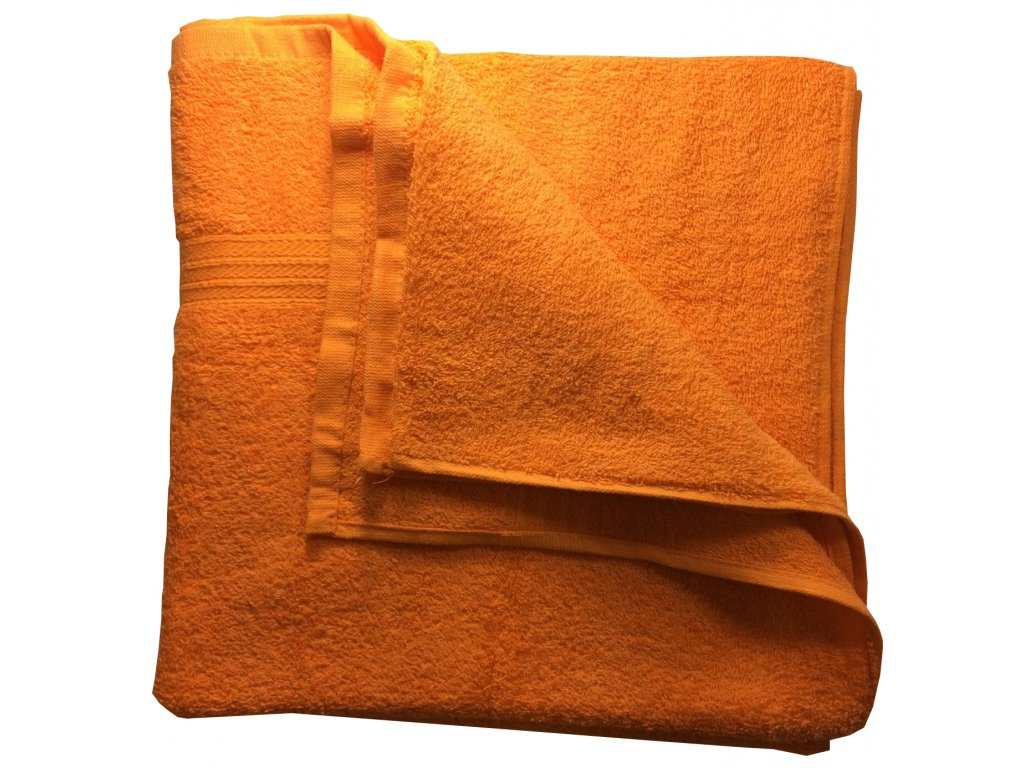 EmaHome - Osuška 70x140 cm bavlna / oranžový