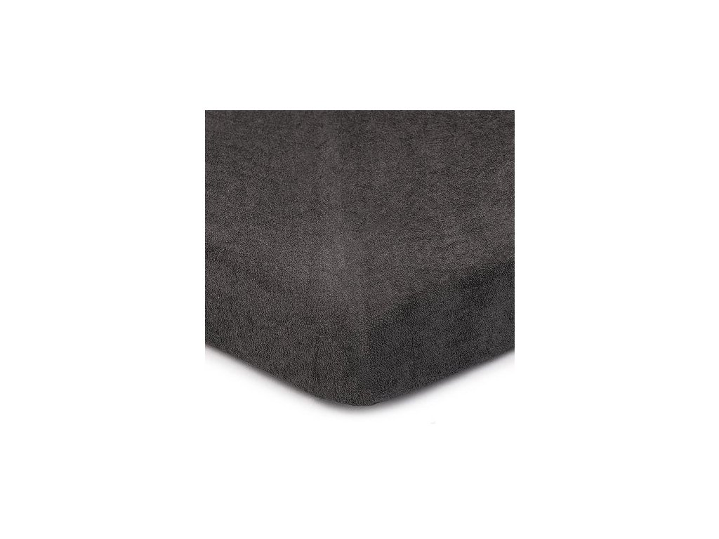 EmaHome - Froté Piruu prostěradlo 140x200 cm tmavě šedá 301
