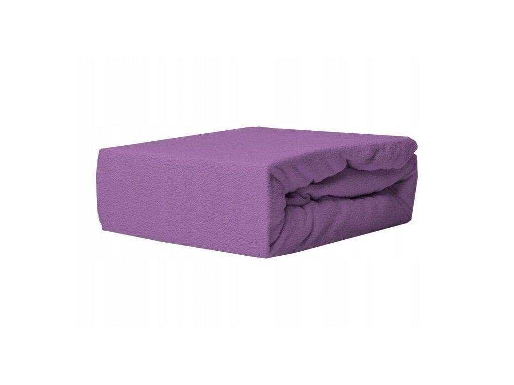 EmaHome - Froté prostěradlo 140x200 cm fialová 316