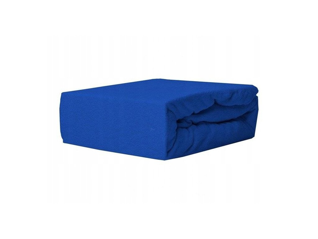 EmaHome - Froté prostěradlo 140x200 cm námořnická modrá 312