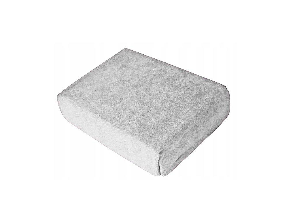 EmaHome - Froté prostěradlo 140x200 cm světle šedá 120