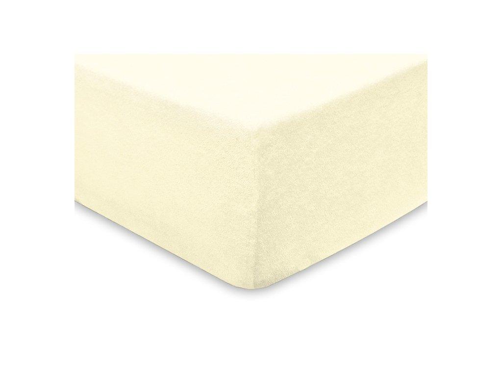 EmaHome - Froté prostěradlo 160x200 cm krémová 104